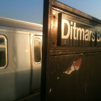 Photo taken at MTA Subway - Astoria/Ditmars Blvd (N/W) by Andrew A. on 3/17/2012