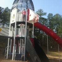 Photo taken at Burns Park Playground by Johnathan D. on 3/1/2012