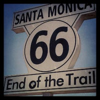"""Photo taken at Santa Monica Route 66 """"End of the Trail"""" by Doe D. on 7/1/2012"""