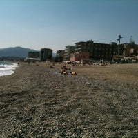 Photo taken at Spiaggia delle Fornaci by Valeria G. on 3/27/2012