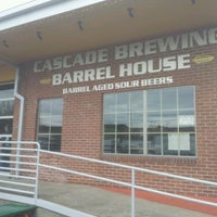 Photo taken at Cascade Brewing Barrel House by Blake C. on 3/27/2012