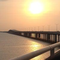Photo taken at Bay St Louis Bridge by Scott C. on 7/31/2012