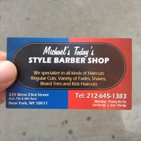 Photo taken at Michael's Today's Barber Shop by Jonathan C. on 8/31/2012