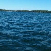 Photo taken at Round Lake by Amanda M. on 8/7/2012
