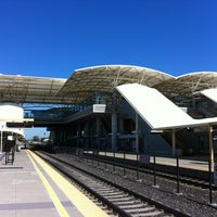 Photo taken at Millbrae Caltrain Station by Michael S. on 4/21/2012