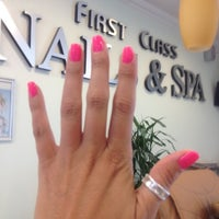 Photo taken at First Class Nails & Spa by PinkStarr on 7/13/2012