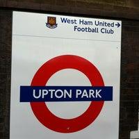 Photo taken at Upton Park London Underground Station by Jom on 4/28/2012