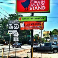 Photo taken at Delia's Chicken Sausage Stand by Brandon L. on 5/24/2012