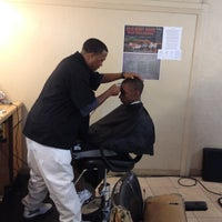 Photo taken at One Stop Barber And Beauty Shop by Kitty G. on 5/26/2012