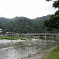 Photo taken at Togetsu-kyo Bridge by しげき on 8/14/2012