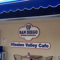 Photo taken at San Diego Home Cooking Mission Valley Cafe by Brittni P. on 7/3/2012