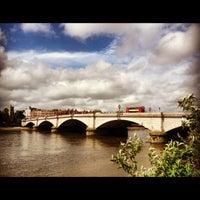 Photo taken at Putney Bridge by Ree S. on 6/7/2012