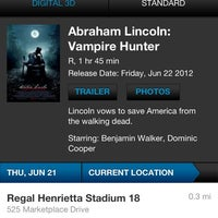 Photo taken at Regal Cinemas Henrietta 18 by Anthony W. on 6/22/2012