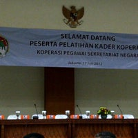 Photo taken at Gedung Krida Bhakti Sekretariat Negara by Ratih Indah S. on 7/17/2012