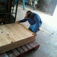 Photo taken at austin pallet company by Sheldon W. on 3/27/2012