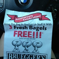 Photo taken at Bruegger's by Caitlin💋 on 9/6/2012