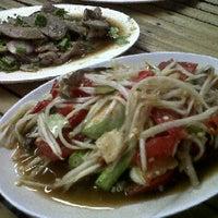 Photo taken at ร้านอาหาร ลาบเป็ดบ้านไผ่ อ่อนนุช 46 by Ping p. on 2/7/2012