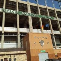 Photo taken at Estadio Manuel Martínez Valero by Jose Manuel Quiles on 8/9/2012