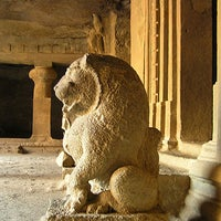 Photo taken at Elephanta Caves by Vivek V. on 3/20/2012