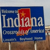 Photo taken at Indiana / Ohio State Line by Brad D. on 2/3/2012