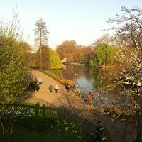Photo taken at Buckingham Palace Gardens by Malika H. on 3/29/2012