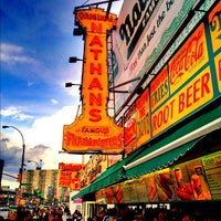 Photo taken at Nathan's Famous by Jeffrey P. on 6/3/2012