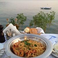 Photo taken at Ακρογιάλι by Spiridoula M. on 7/8/2012