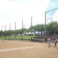Photo taken at 野川グラウンド by koichi m. on 5/13/2012