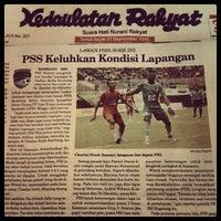 Photo taken at Stadion Maguwoharjo by mas gde ½. on 4/29/2012
