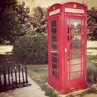 Photo taken at The red telephone booth by Cliff P. on 8/4/2012