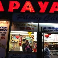 Photo taken at Papaya Dog by Neda K. on 5/22/2012