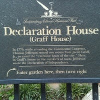 Photo taken at Declaration House by Scott S. on 8/26/2012