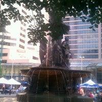 Photo taken at Fountain Square by Jillian B. on 6/5/2012