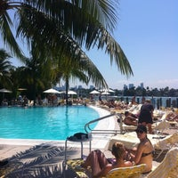 Photo taken at Pool at The Standard Spa, Miami Beach by Stavros M. on 5/6/2012