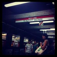 Photo taken at MBTA Downtown Crossing Station by Alejandra Z. on 5/26/2012