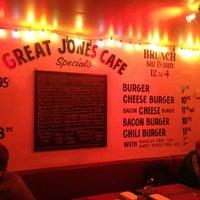 Photo taken at Great Jones Cafe by Verushka W. on 4/20/2012