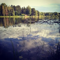 Photo taken at Bābelītes ezers by Kaspars on 8/18/2012