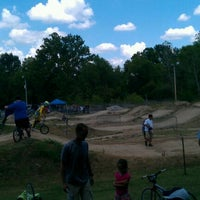 Photo taken at St Peters BMX Track by Ryan O. on 7/15/2012