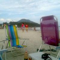 Photo taken at Praia Grande by Amanda M. on 4/14/2012
