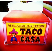 Photo taken at Taco Casa by Christie V. on 5/2/2012
