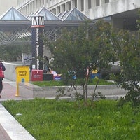 Photo taken at Judiciary Square Metro Station by CaShawn T. on 4/30/2012