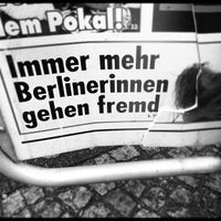 Photo taken at H Kochstr./Checkpoint Charlie by Oliver K. on 2/24/2012