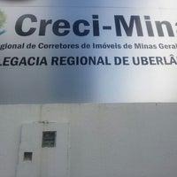 Photo taken at Creci-MG Delegacia Regional de Uberlândia by Leonardo A. on 3/12/2012