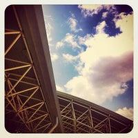 Photo taken at Irakleio ISAP Station by Thomas P. on 7/7/2012