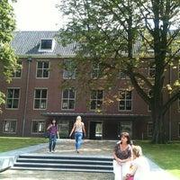 Photo taken at Binnenplaats Hermitage (Amstelhof) by Larissa K. on 8/4/2012