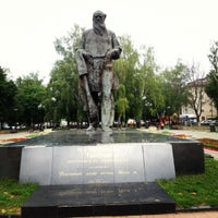 Photo taken at Памятник Л.Н. Толстому by Margo P. on 6/11/2012