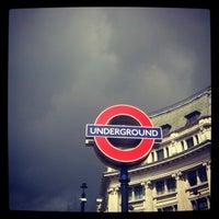 Photo taken at Oxford Circus London Underground Station by Mattia M. on 4/19/2012