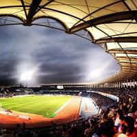 Photo taken at Todoroki Athletics Stadium by motoy h. on 6/23/2012