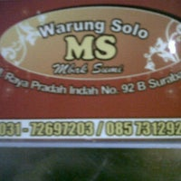"""Photo taken at Warung makan""""Depot solo"""" by Emelia S I. on 5/9/2012"""