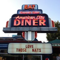 Photo taken at American City Diner by Nico D. on 9/12/2012